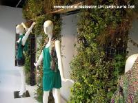 Mur végétal vitrine Le printemps